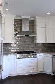 kitchen cabinet backsplash modern kitchen chimney design exposed white brick backsplash tile