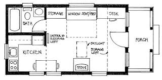 small cabin floor plan 14x24 builder s cottage home plan