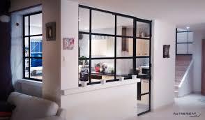 cloison vitree cuisine salon cloison vitree cuisine salon 8 verri232re en m233tal dans cuisine