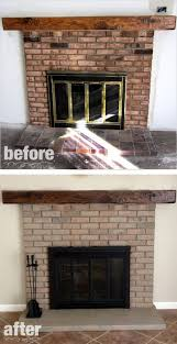 Fireplace Brick Stain by Fireplace Remodel Paint U0026 Stain Hometalk