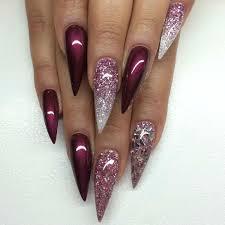16 black stiletto nail designs purple black lace design stiletto