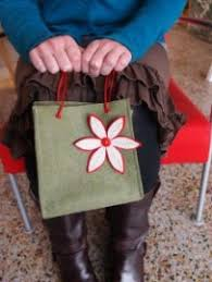 tutorial make a reusable gift bag from felt sewing