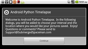 android time lapse android python timelapse submerged spaceman