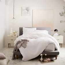West Elm White Bedroom Mod Upholstered Bed West Elm Uk