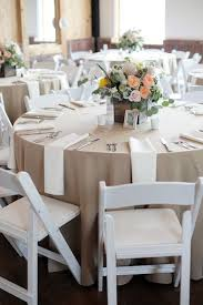 Wedding Table Linens White Wooden Garden Chairs Are The Perfect Pick For A Summer