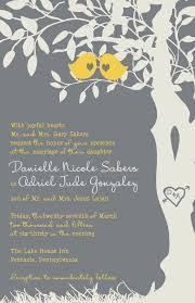 bird wedding invitations bird wedding invitations yellow and gray tree wedding