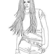 fashion model coloring pages avril lavigne coloring pages avril lavigne fashion designer 6167