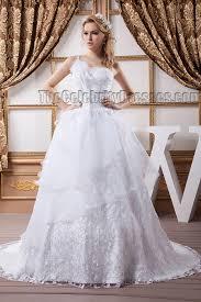 gorgeous a line lace one shoulder wedding dress bridal gown