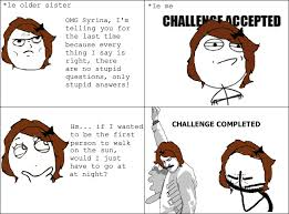 Challenge Completed Meme - stupid questions rage comic by syrinakorramaya on deviantart