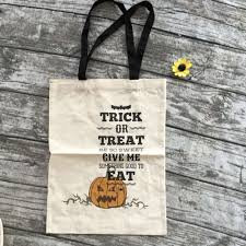 personalized halloween buckets aliexpress com buy 2016 halloween bags beige cloth halloween
