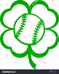 halloween softball background baseball softball four leaf clover stock vector 178806479