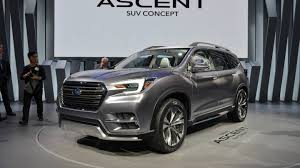 subaru forester 2018 colors 2018 subaru ascent suv revealed in new york the drive