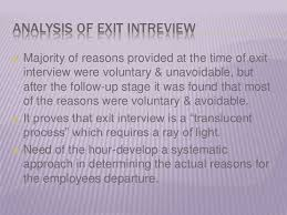 exit interview analysis report template workforce retention