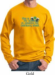 mens st patrick u0027s day sweatshirt official drinking shirt sweat