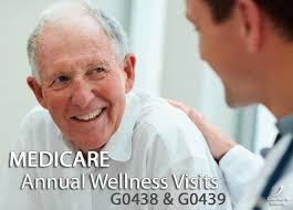 medicare g0438 g0439 annual wellness visit codes