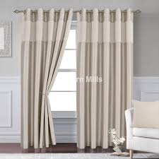 Lined Curtains Venice Natural Gold Eyelet Lined Curtains Chiltern Mills