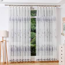 Patterned Sheer Curtains Purple And White Tree Butterfly Patterned Sheer Curtains