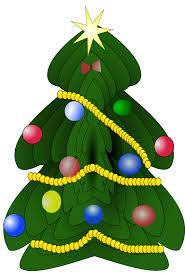 clipart of a christmas tree with ornaments collection