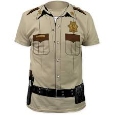 halloween costume white button up shirt halloween costume t shirts sheriff costume mens t shirt