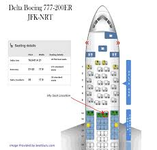 Alaska Airlines Seat Map by Delta U0027s Jfk Nrt Redeye 14 Hour Longhaul Boeing 777 200 Flight