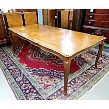 vintage baker french provincial extension dining table chairish