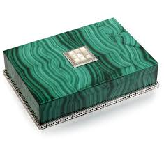 instyle decor luxe malachite jewelry box instyle decor luxury