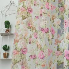 floral design washable tulle curtain fabrics beautiful sheer panel