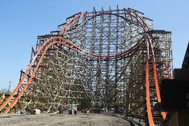 speed of roller coaster six flags vows smooth ride on wooden coaster