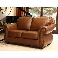 Full Top Grain Leather Sofa by Abbyson Erickson Top Grain Leather Loveseat Camel Brown Hayneedle