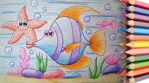 video for kids youtube kidsfuntv how to draw a cartoon fish easy step by step for kids learn to
