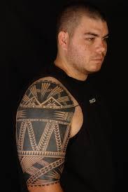 maori polynesian tattoo rotuma tattoo half sleeve on shane
