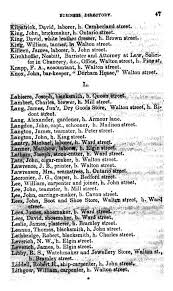 port hope business directory 1856