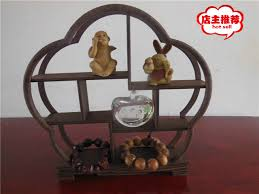 chicken wing wood display shelf small objects frame tea booth