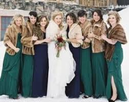 fur shawls for bridesmaids bridesmaid fur shawl etsy