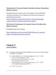 fundamentals of corporate finance 3rd edition solutions manual