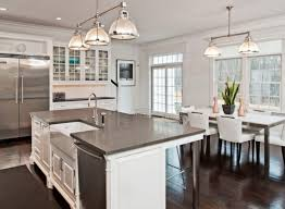large kitchen island designs with seating and white granite