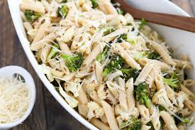 roasted broccoli and cauliflower pasta with parmesan lemon and