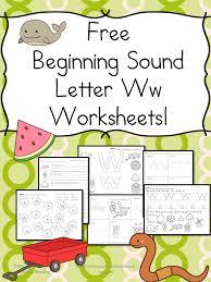 beginning letter sound worksheets the letter w