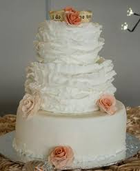 3 tier wedding cake with red roses pretty three tier wedding cake