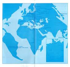 Lufthansa Route Map by Interflug Deutsche Lufthansa