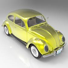 volkswagen yellow beetle volkswagen beetle studio max 3d cgtrader