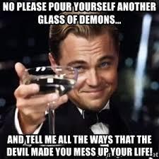 Wine Glass Meme - leonardo dicaprio wine glass meme generator