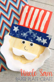 uncle sam paper plate craft fun and easy patriotic kids craft