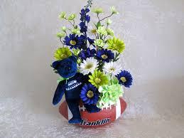 silk flower arrangement for seattle seahawks fan lime green