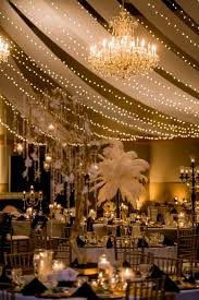 Great Gatsby Centerpiece Ideas by The Great Gatsby Wedding Of Dreams Ostrich Feather Centerpieces
