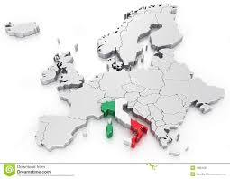 Italy On Map Italy On A Euro Map Stock Photos Image 18864283
