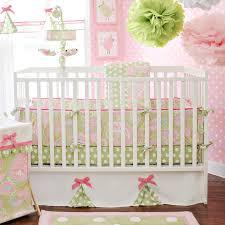 Pink And Green Crib Bedding Pinterest Baby Nursery Adorable New Nursery
