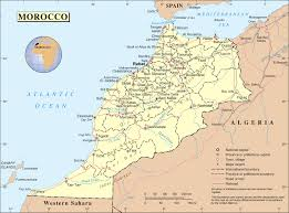 Spain Political Map by Political And Administrative Map Of Morocco Morocco Political And