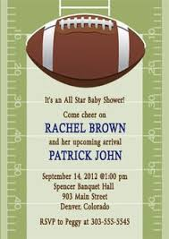 football baby shower baby shower invitations sports football baby shower invitation
