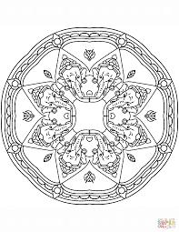 shri ganesha mandala coloring page free printable coloring pages